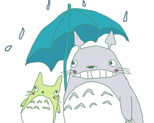 totoro_rain